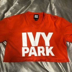 Ivy park orange cropped tee